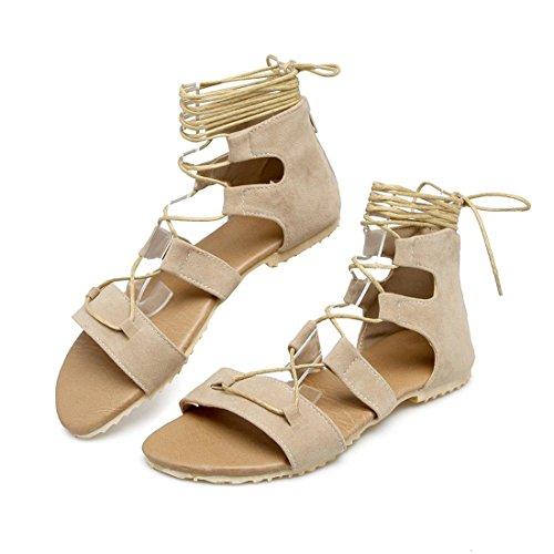La Pulsera Verano Mujer la con Plano Sandalia de Mujer para Calzado Chica Beige de Sandalias Estudiante Sandalias Trenza tgUYwqt