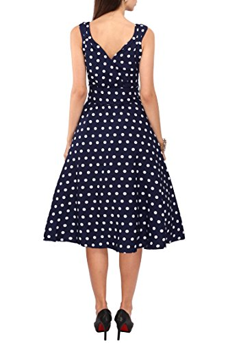 Women's Plus Size Dresses Polka Dot Printed Retro Rockabilly 40s and 50s Vintage Bridesmaid Dresses