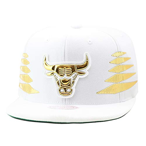 - Mitchell & Ness Men's NBA Solid Gold Diamond Logo Snapback Cap, Chicago Bulls