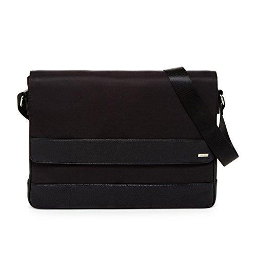 Calvin Klein Cotton Nylon Messenger, OS, Black by Calvin Klein Inc.