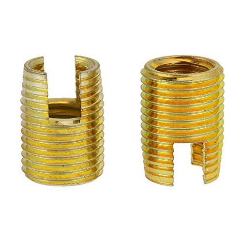 Brass Thread Insert Self Tapping Thread Slotted Inserts Combination Set Assortment Kit Repair Thread Tool 50Pcs//Set