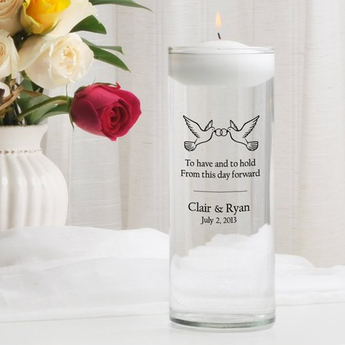 Personalized Monogrammed Wedding, Aniversary, Memorial Floating Unity Candles - Different Images
