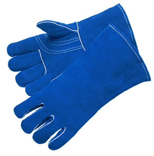 Liberty 7354 Premium Select Shoulder Leather Welder Glove with Reinforced Thumb and Palm, Large, Blue (Pack of 12)