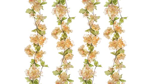 The Titus Shop 2 Pcs Flower Garland, Artificial