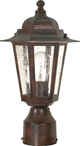 (Nuvo Lighting 60/995 One Light Lantern Post Mount, Bronze/Dark)
