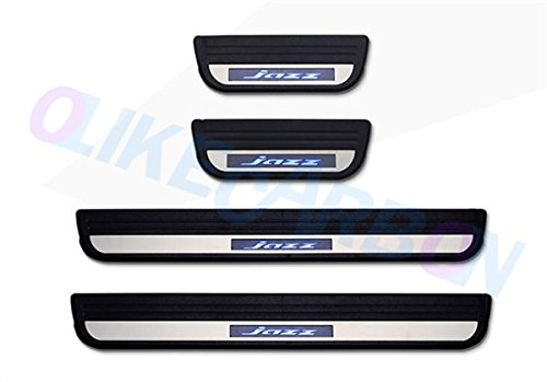 OLIKE For Honda JAZZ 2008-2013 Fashion Style Car LED Door Sill Scuff Plate Guard Sills Protector Trim