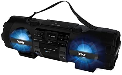 NAXA Electronics MP3/CD Bass Reflex Boombox and PA System with Bluetooth by NAXA Electronics