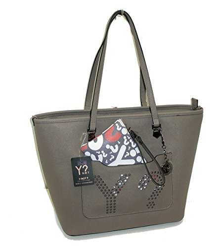 BORSA YNOT E919 NEW SHOPPING IN PELLE SAFFIANO LEATHER кожаная сумка TAUPE