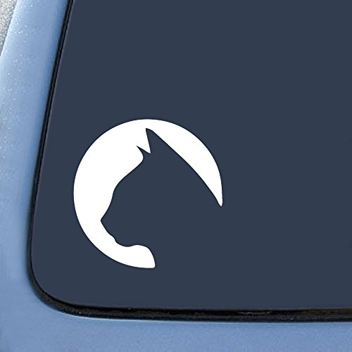 UNIQUE BRIGHT Yin and Yang Cat Pet Lover Window Sticker Decal 4.5 Circular