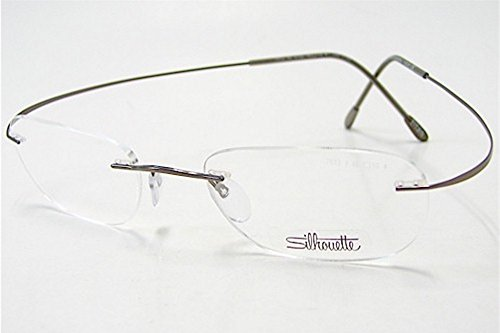 SILHOUETTE 7613 TMA The Must Collection 6102 Pinecone Brown Optical Eyeglasses Frame (Lens:46 Bridge:21 ()