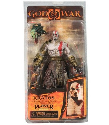 "God of War 7.5"" God of War Kratos in Golden Fleece Armor with Medusa Head PVC Action Figure Collection Model Toy"