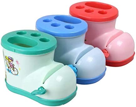iBâste - Soporte para cepillos de Dientes con dispensador de Pasta de Dientes, Forma de Botas de Pasta de Dientes, Color al Azar