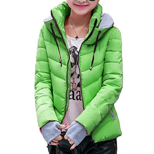Huicai Autunno E Inverno Nuovo Abbigliamento Femminile Breve Paragrafo Cappotto Guanti Mantieni Caldo Vestibilità Slim Verde