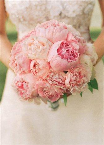 Peonie Nosegay Bridal Shower Card (Bridal Nosegay Bouquet)
