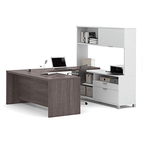 Pro Linea U-Desk with Hutch Dimensions: 71.125