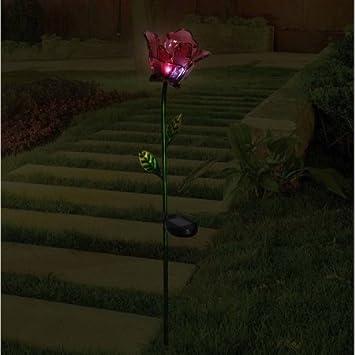 better homes and gardens lighting. better homes and gardens flower stake red lighting