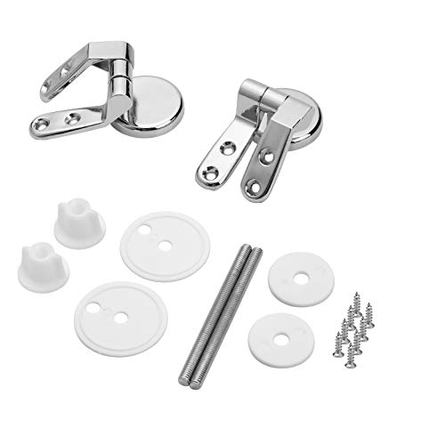 Yizhet Toilet Seat Hinges Pair of Zinc alloy Finished Replacement Hinges For Toilet Seats Including Fittings