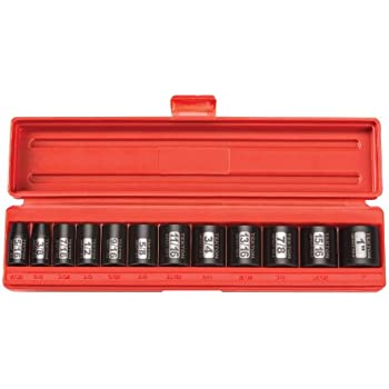 TEKTON 3//8-Inch Drive Shallow Impact Socket Set 6-Point Cr-V 5//16-Inch Inch