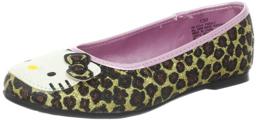 Hello Kitty Leila Ballet Flat (Little Kid),Leopard,3 M US Little Kid