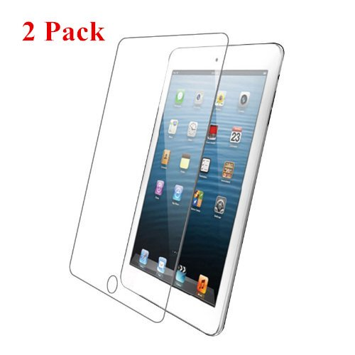 Intsun® 2 Pack Premium 0.4mm Tempered Glass Screen Protector Screen Guard, Made From Real Flexible Glass 9H Hardness, for iPad 2 3 4, iPad 5, iPad Air, iPad mini (iPad 2/3/4)