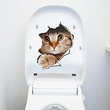Die Neue Kleine Katzen In Der Wand Dekoration Aufkleber Wc Toilette