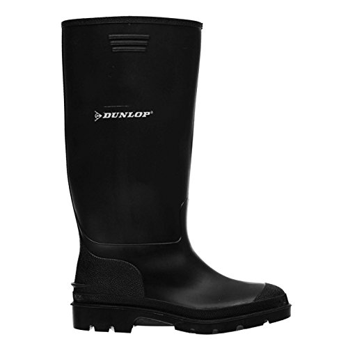 Dunlop Mens Genst Welly Wellies Wellington Boots Nero 7 (41)