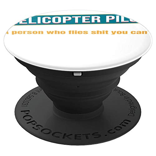(Helicopter Pilot Shirt - Helicopter Pilot Definition T shirt PopSockets Grip and Stand for Phones and Tablets)