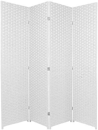 Paneles plegables de mimbre, para privacidad, división, natural, 6: Amazon.es: Hogar