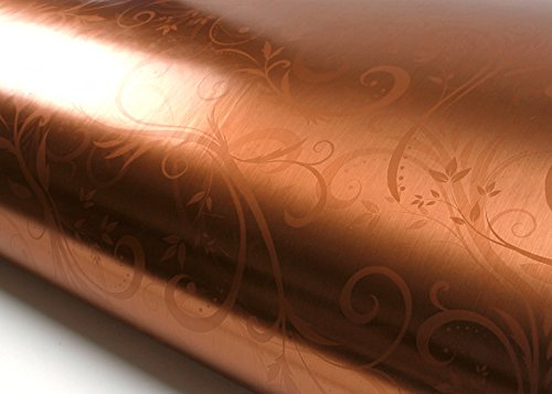 ROSEROSA Peel and Stick PVC Instant Floral Decorative Self-Adhesive Film Countertop Backsplash Metal Herb Garden Bronze Pearl (HD201 : 2.00 Feet X 6.56 Feet)