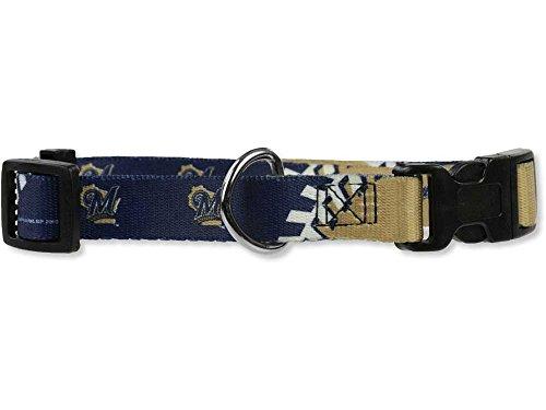 Hunter MFG Milwaukee Brewers adjustable nylon Dog Collar - medium