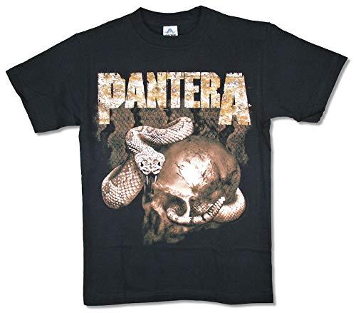 - Pantera Rattler Snake Skull Black T Shirt (S)