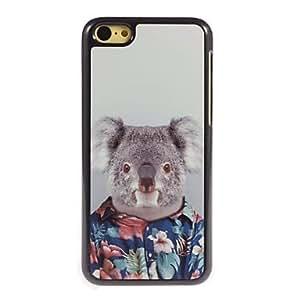 LZX Lovely Koala Design Aluminium Hard Case for iPhone 5C