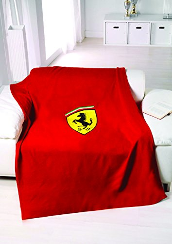 (Ferrari Shield Red Fleece Blanket)