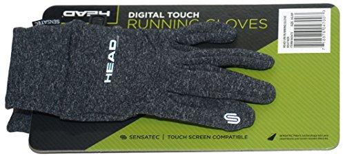 Head Multi-Sport Running Gloves with SENSATEC-Heather Grey (Small)
