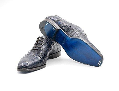 Scarpe Stringate Sutor Mantellassi In Pelle Di Coccodrillo Blu