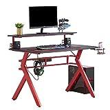Best Gamer Desks - HOMYSHOPY Computer Gaming Desks, 2-Tired Gamer Desk Review