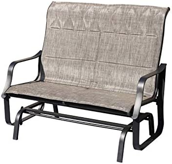 LOKATSE HOME Patio Swing Bench Outdoor Bistro Rocking Chair