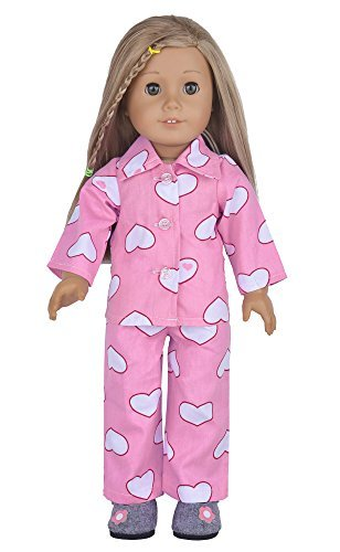 Ebuddy 2pc Cotton Heart Print Pajamas Including Top and