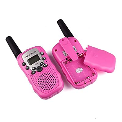 Thinktoo 2pcs Wireless Walkie-Talkie Eight Channel 2 Way Radio Intercom 5KM Pink for Baby, Kiddie, Kids, Adult, Infant, Toddlers Sports Outdoor Play Toys: Arts, Crafts & Sewing