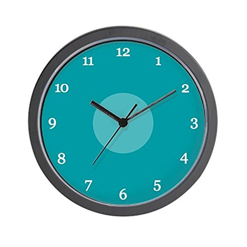 CafePress - Teal Wall Clock (15W) - Unique Decorative 10