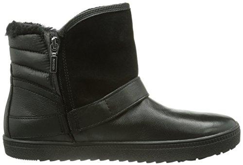 Geox D AMARANTH B ABX - bota chukka de cuero mujer negro - negro