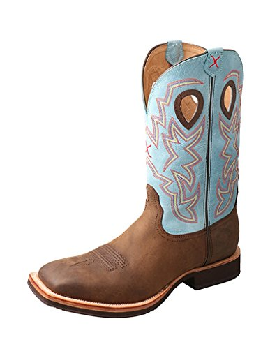 Twisted X Mens Horseman Boot Square Toe - Mhm0019 Crazy Horse Blue y5jWbZ9d