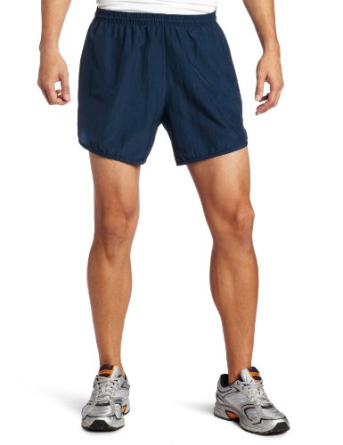 Soffe Men's Navy Running Short With Pocket, Navy, Small