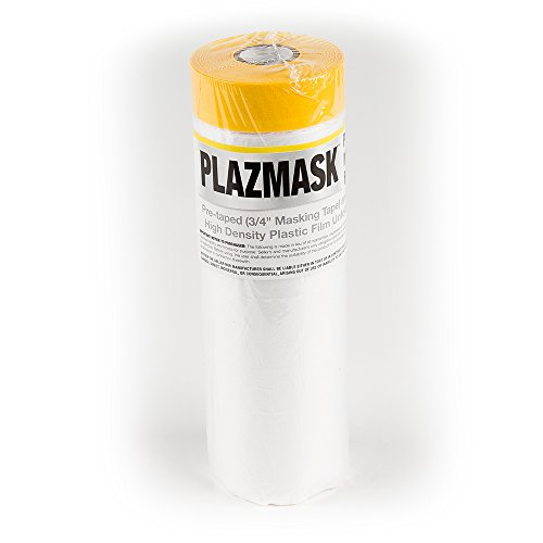 PlazMask Pre-Taped Masking Film, 4-Feet X ()