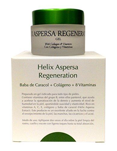 Thermal Teide Helix Aspersa - Crema para regeneración, baba de caracol + colágeno + 8