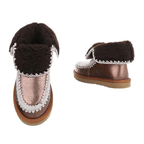 Ital On Boots at Women's Flat Slip Boots Bronze Design RwqxOR1rPv