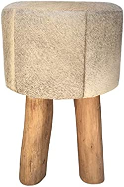 related image of Overstock Three-Legged Stool & Pouf Erin