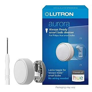 Lutron Z3-1BRL-WH-L0-A Aurora Smart Bulb Dimmer, 1 Pack, White