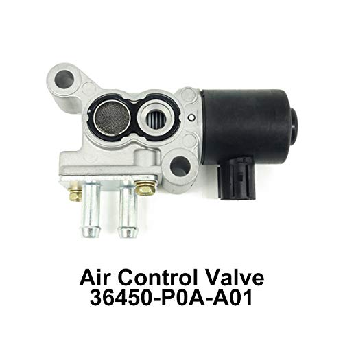 Air Control Valve 36450-P0A-A01 Replacement For Honda Accord Acura Integra 1994 1995 1996 1997 IACV EAC 1382000480 IACV Fuel Injection Idle Air Control ()