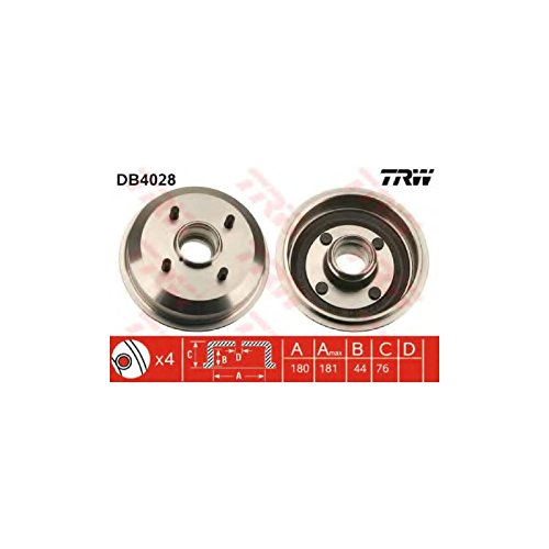 TRW DB4028 Brake Drums:
